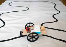 Student's robot following the line