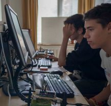 Intense concentration whilst coding